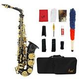 Saxofon Alto Marca Lade Color Negro Con Estuche Y Accesorios