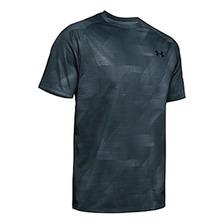 Remera Under Armour Tech 2.0 Printed Grey Azul