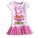 Vestido Criança Bebê Rosa Peppa Pig Tutu Top