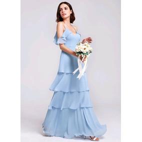 Vestido Azul Claro Pp Candy Color Tom Pastel Madrinha