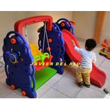 Elefante 4 En 1 Tobogan Columpio Basket Aros, Delvry Gratis*