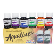 Aqualine Aquarela Líquida 6 Cores Corfix (tipo Ecoline)