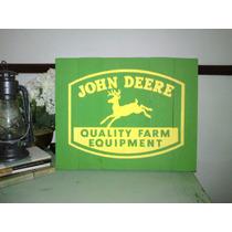 Cuadro Letrero Anuncio Antiguo John Deere Madera Rustico
