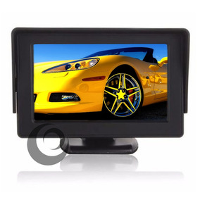 Tela Monitor Automotivo Lcd Tft 4.3 Carro Camera De Ré Dvd