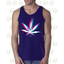 Camisillas Esqueleto Gym Estampados Personalizados - Weed