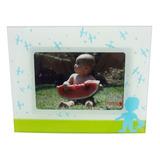 Porta Retrato De Vidro Fotos 15x10cm Aviões Bebê Presente