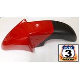 Guardabarro Del. Zanella Rx 150 M/n Rojo/negro Ruta 3 Motos