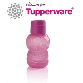 Tupperware Garrafa Infantil Eco Protetores Minhoquinha Pink