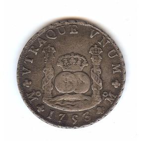 Moneda Antigua Plata Siglo Xviii Columnaria 1753/1 Muy Rara