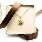 Joyería Con Plata Y Flores Sol Con Girasol Envío Gratis