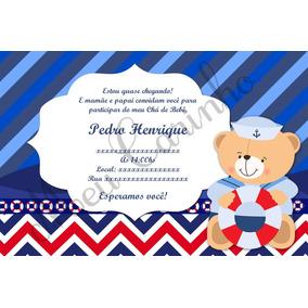 Convite Chá De Bebê Aniversário Personalizados + Brinde
