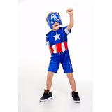 Fantasia Capitão America Vingadores,super Heroi Infantil