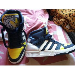 adidas Originals Vs Hoops Mid Color Azul-amarillo Talla:10