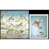 Fauna - Aves Rapaces - Angola - Hoja + Block Mint (mnh)