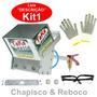 Chapiscadeira Projetor Argamassa Reboco T& Parede 3.6 L Kit1