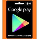 Google Play $10 Usd Region Usa - Voucher Con Codigo