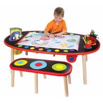 Juego Mesa Con 2 Bancos Sillas Mesita Estudio Infantil Toys