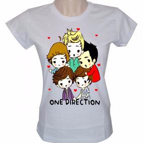 Camisa Baby Look Feminina Banda One Direction Camiseta