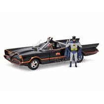 Batmóvel 1966 Classic Tv + Batman & Robin Jada Toys 1:24