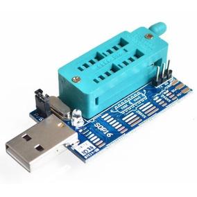 Programador Usb Ch341a + Pinza + Cable. Bios Eeprom 24 25