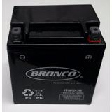 Bateria De Moto Bronco 12n10-3b Gel Yamaha Cuadris Gs 500