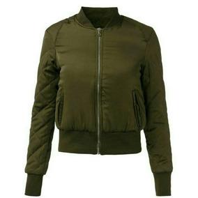 Jaqueta Acetinada Verde Militar