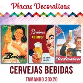 15 Placas Decorativas Bebidas Decoração Retro Cozinha Bares