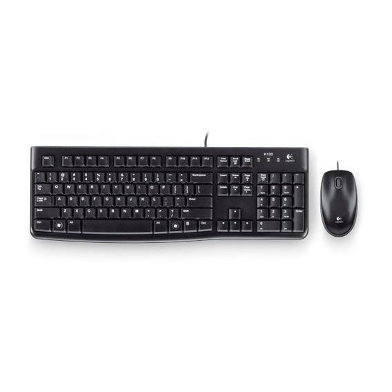 Kit Teclado Y Mouse Multimedia Logitech Mk120 Usb  Pc
