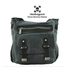 Bolso David Jones Color Negro De Piel