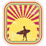 Calcomania Coleccionable Surf Tabla