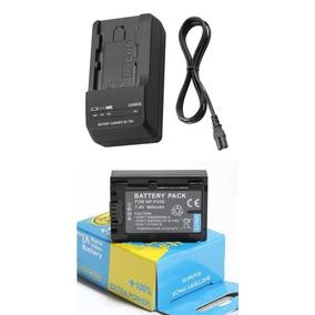 Bateria Np-fv50 + Carregador Para Sony Hdr-xr160 Hdr-xr260v