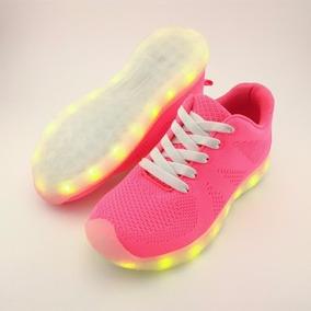 Tenis Zapatos Con Luz Led Bateria Recargable +envío Gratis