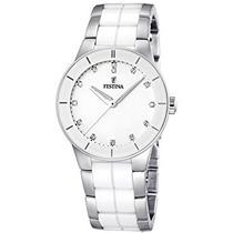 F / 3 Reloj Blanco De Cerámica De Cuarzo De Festina Mujer