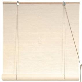 Oriental Furniture Cream Persianas De Bambú - (36 Pulg. X 7