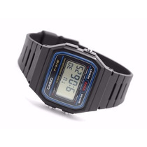 Relógio Casio F-91w 100%original Série Azul Prova D Água