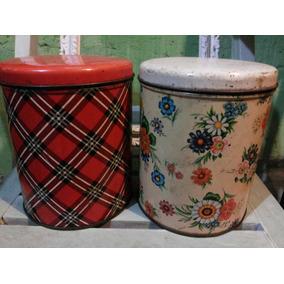 Antiguos Tarros,latas De Cocina,decoración Vintage,lindas!