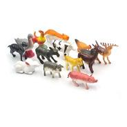 Set De 14 Animales Granja Conejo Chancho Pato Gallina Vaca