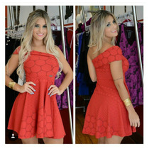 Lindo Vestido Vermelho Miss Misses Tamanho G/ Pronta Entrega