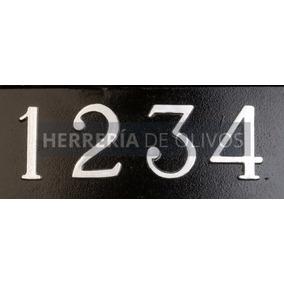 Números En Aluminio- Dirección Casas - Numeración Domicilio