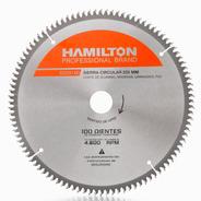 Disco Ingletadora Aluminio 100 Dientes 255mm 10´´ Hamilton