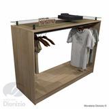 Balção Expositor C Vidro Loja Comercio L2 - Madeirado Bv05m