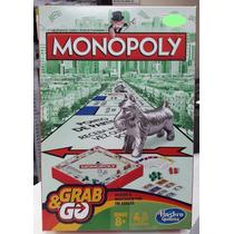 Jogo Monopoly Grab E Go (portatil) B1002 Hasbro Original Nf