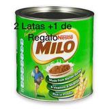 Chocolate Milo Lata 1/2 Kg Son 2 Latas + 1 De Regalo