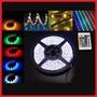 Cinta Tira Led Rollo Rgb 5050 Exterior Fuente Con Control