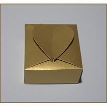 100un-caixas/embalagens Para Bem Casados/douradas