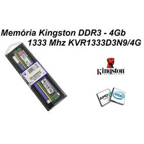 Memória Kingston Ddr3 4gb 1333 Mhz Kvr1333d3n9/4g