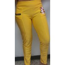 Pantalon Leggins Licras Amarillo Modelo Kowr03