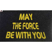 Tapete Capacho Divertido De Borracha May The Force With You