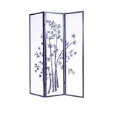 Roundhill Furniture 3-panel Oriental Shoji Divisor De Panta
