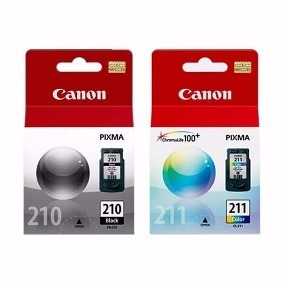Kit 2 Cartuchos Canon Pixma Pg210 Cl211 Para Mp280 Mp230.